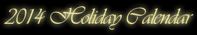 2014 Holiday Email Marketing Calendar