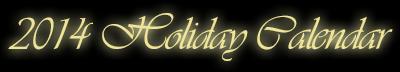 2014 Holiday Email Marketing Calendar