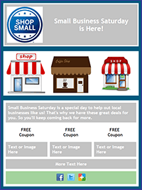 Small Business Saturday Email Template