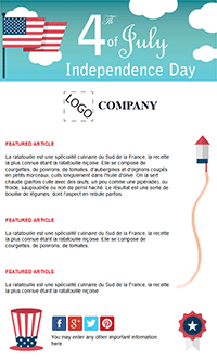Summer Email Marketing 4th of July Email Template