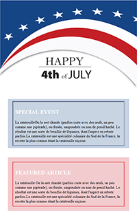Summer Email Marketing Independence Day Email Template