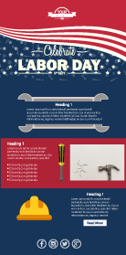 Labor Day Email Template Patriotic Email Marketing