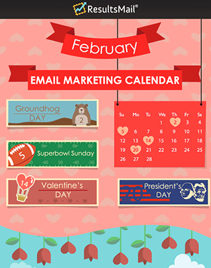 February Email Marketing Ideas Calendar