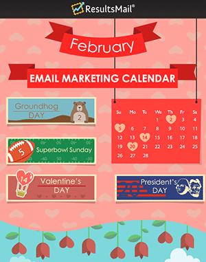 February Email Marketing Ideas Calendar