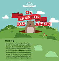 Groundhog Day Email Template
