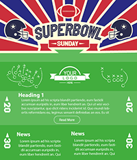 Superbowl Sunday Email Template